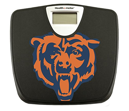 Black Finish Digital Scale Featuring Your Favorite Football Team Logo (Bears)