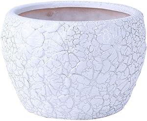 Plant pots Big, Flower Plant Pots 6.69 Inch White Ceramic Flower Pot Outdoor Garden Terrace Home Coffee Table Office Desktop Decorative Flower Pot Pots for Plants