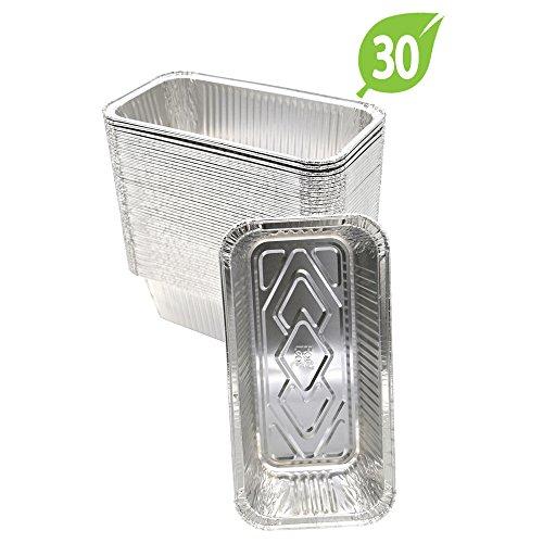 30 Bread Pans - (30 Pack) Premium Aluminum Foil 2-LB Bread Loaf Pans l Standard Size 8.5