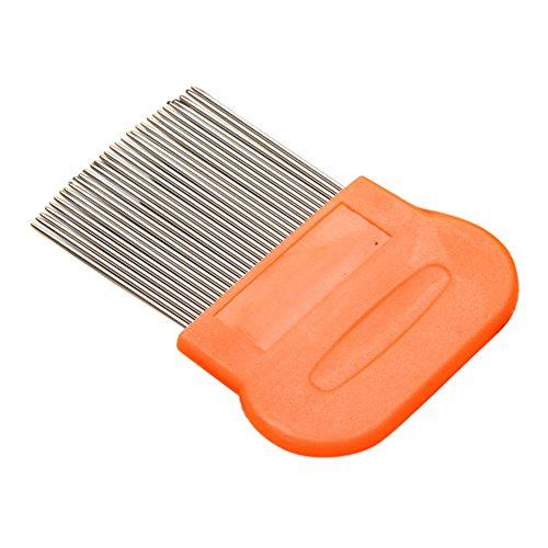 (Stainless Steel Flea Comb Hair Comb Terminator Fine Egg Dust Nit Free Removal)