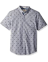 Men's Short Sleeve Burger Printed Shirt