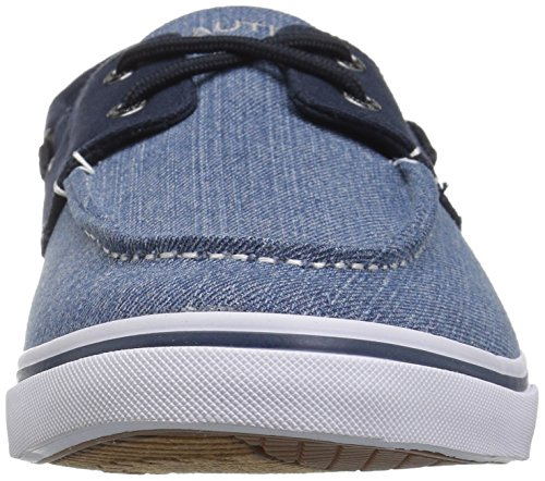 Nautica Mens Galley Boat Shoe Light Denim / Peacoat