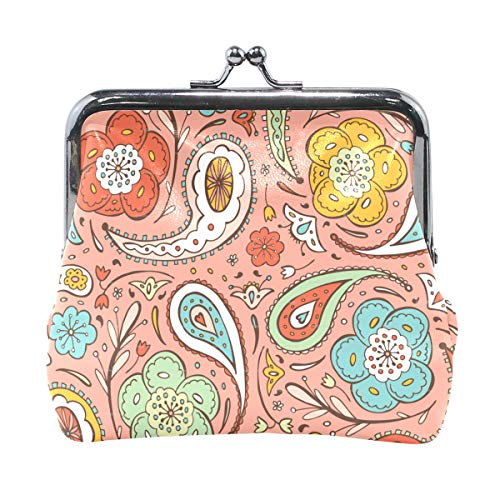 Coin Purse Paisley Print Design Womens Wallet Clutch Bag Girls Small ()