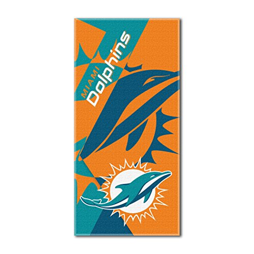 - The Northwest Company Officially Licensed NFL Miami Dolphins Puzzle Beach Towel, 34