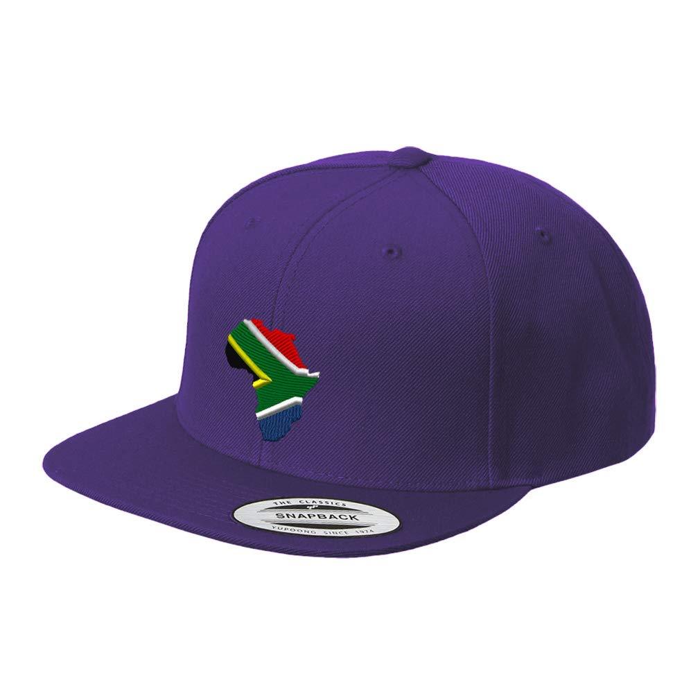 Custom Snapback Baseball Hat South Africa Flag B Embroidery Country Name Acrylic