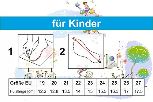 Krexus Kinder Mädchen Hausschuhe Modell Bristol Gr. 19-27 EU Jeans/Sternschen