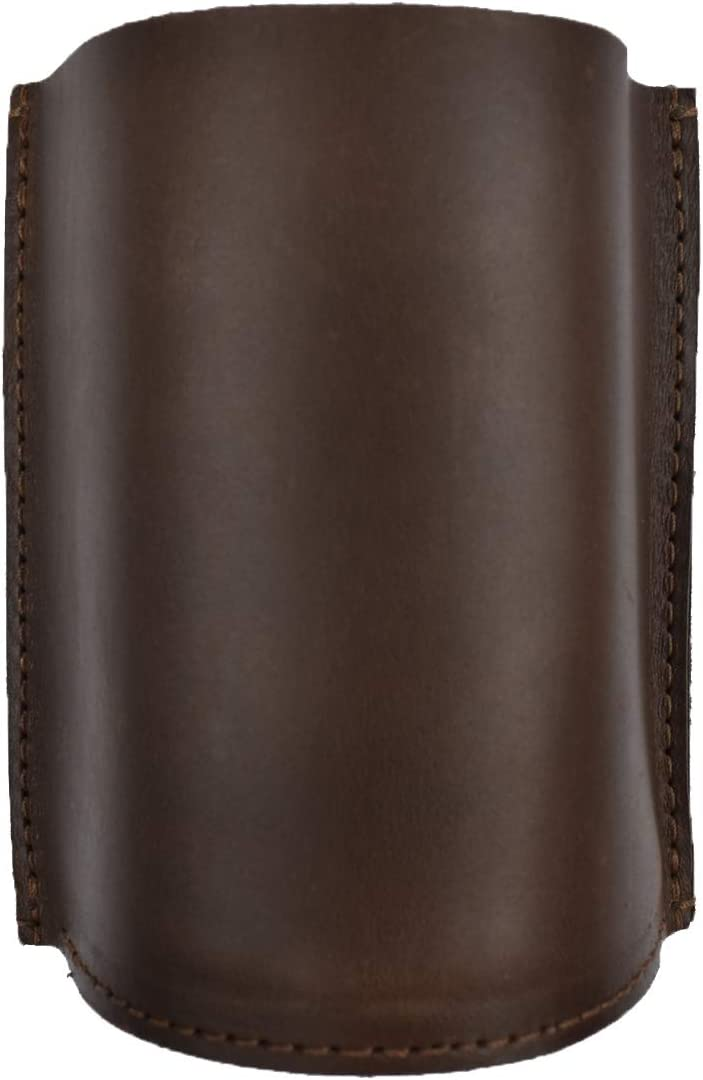 Hide & Drink, Thick Leather Pencil Holder, Desk Organizer, School & Office Accessories, Handmade Includes 101 Year Warranty :: Bourbon Brown