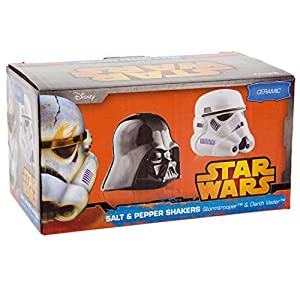 Star Wars Ceramic Salt and Pepper Shakers - Darth Vader & Stormtrooper - Take your Meals to the Darkside!