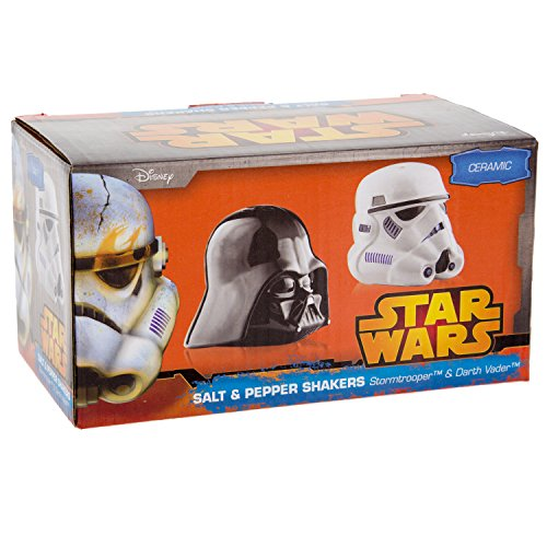 Star wars ceramic darth vader and storm trooper salt and pepper shakers cool kitchen gifts - Darth vader and stormtrooper salt and pepper shakers ...