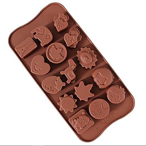 yoohome moldes de silicona antiadherente - Moldes para chocolate (silicona, sugarpasta molde, moldes de repostería (, Candy moldes: Amazon.es: Hogar