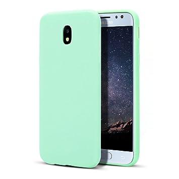 MoEvn Galaxy J5 2017 Funda, Carcasa para Samsung J5 2017, Case Cover TPU Suave Silicona, Slim Anti Skid Anti Rasguño Color Gel Funda para Samsung ...