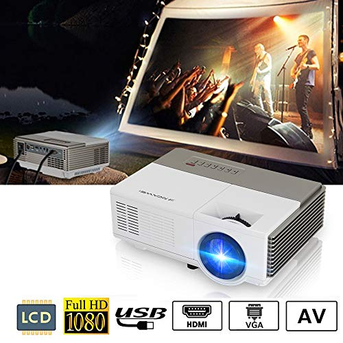 Portable Video Projector 1500 Lumens LED LCD HD 1080p Multim