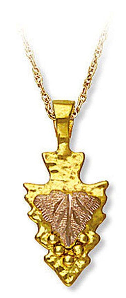 Landstroms 10k Black Hills Gold Arrowhead Pendant Necklace, 18'' - E305