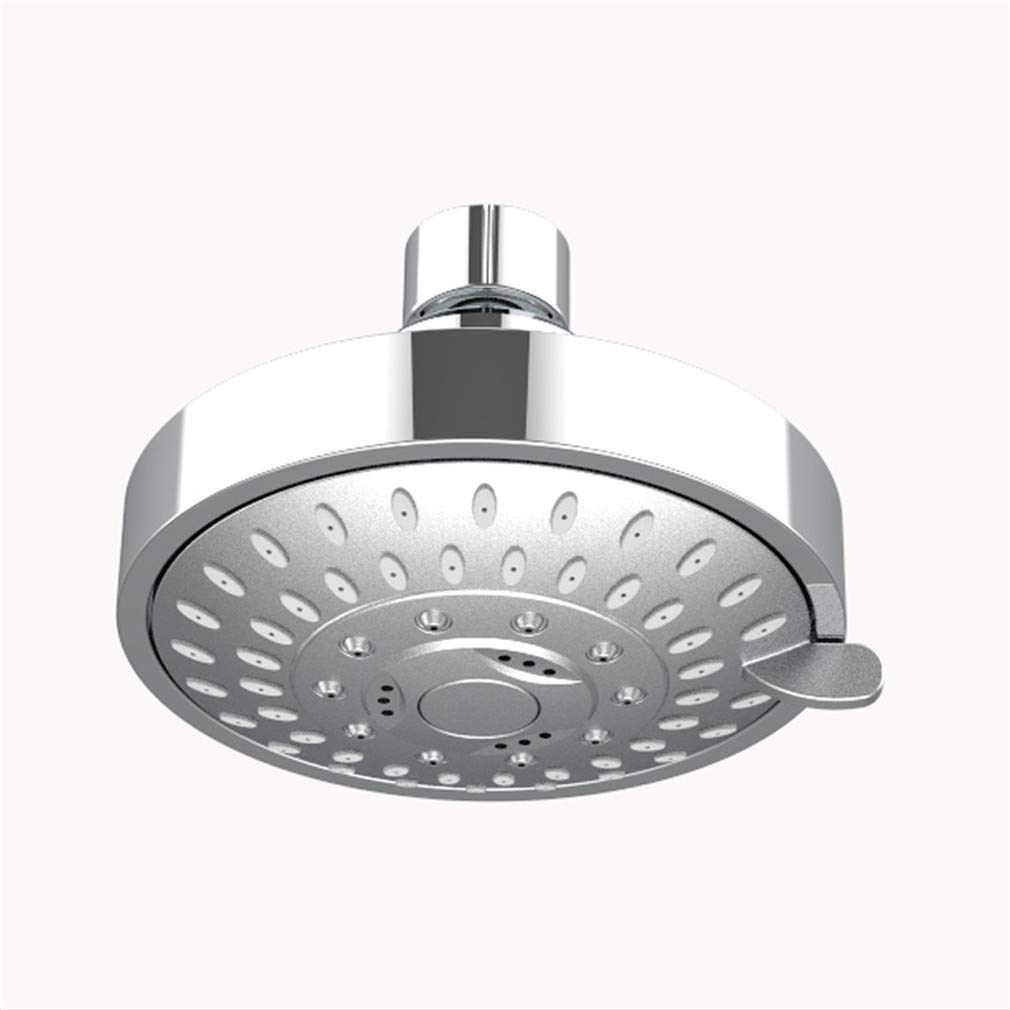 Suitable for Low And High Pressure 4-Inch Replacement Overhead Rainfall Shower Heads Adjustable with Swivel Ball Round Chrome MONIK Fixed Shower Head