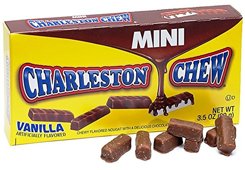 Mini Vanilla & Chocolate Charleston Chews 3.5 oz Theater Boxes (Pack of (Chews Theater Box)