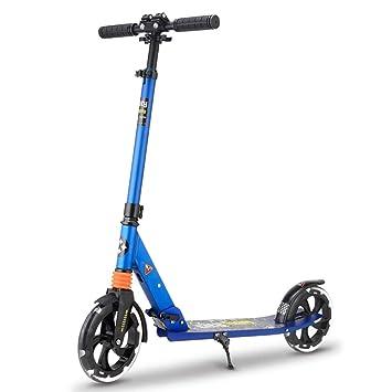 Patinetes de tres ruedas Kick Scooter Plegable para Adultos, Asa Ajustable Scooters con empuñadura,