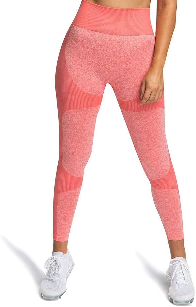 Amazon.com: WODOWEI - Leggings de cintura alta sin costuras ...