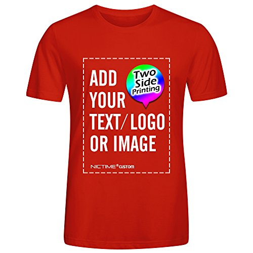 Own Red T-shirt - NICTIME Custom Tshirts Design Your Own For Men Front And Back Print