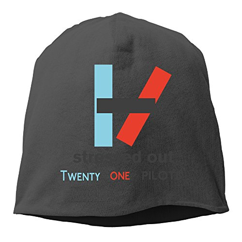 YUVIA Stressed Out Men's&Women's Patch Beanie TravellingBlack Cap Hat For Autumn And Winter - Jezebel Costumes