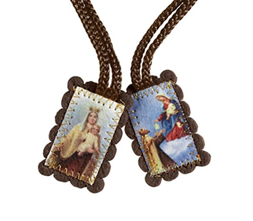 St Simon and Our Lady of Mount Carmel Wool Scapular - Small