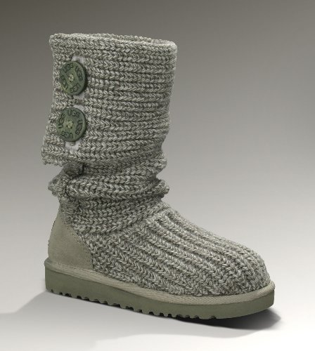 UGG® Australia Classic Cardy Grey Kid Boots, size 5