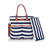 Stylish Baby Diaper Bag - Cotton Messenger Organizer Tote - Change Pad - Kidnid offers
