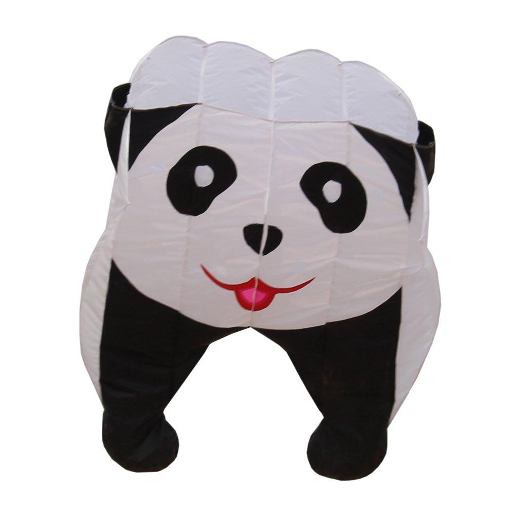 Fullfar Parafoil 3D Panda Kite for Kid. Soft Nylon Material, Good Begineer Kid Kite Easy to Fly. 244×39 inch Long Adult Kite for The Beach or Park, Outdoor Game and Activites. by Fullfar
