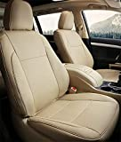 BEHAVE Beige Car seat Covers,Custom Fit Seat Covers Fit for Toyota Highlander 2017 2018,Pack of Auto Seat Covers 4pcs Saddle Cover,4pcs Back Cover,7pcs Headrest,Only fit for LE,LE,Plus,XLE