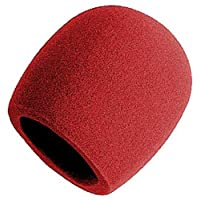 Parabrisas de espuma tipo bola en el escenario, rojo