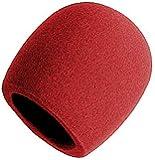On Stage Foam Ball-Type Mic Windscreen, Red