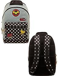 DC Comics Wonder Woman Denim Backpack w/Patches