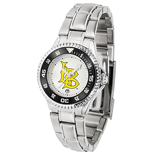 California State (Long Beach) Dirtbags Competitor Ladies Watch with Steel Band by SunTime
