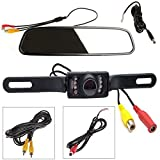 SNANSHI Car Rear View Backup Reverse Camera and 4.3