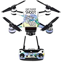 Skin for DJI Spark Mini Drone Combo - Eat Sleep Shoot| MightySkins Protective, Durable, and Unique Vinyl Decal wrap cover | Easy To Apply, Remove, and Change Styles | Made in the USA
