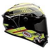 Bell Star Unisex-Adult Full Face Street Helmet (Isle Of Man Black/Yellow, Small) (D.O.T.-Certified)