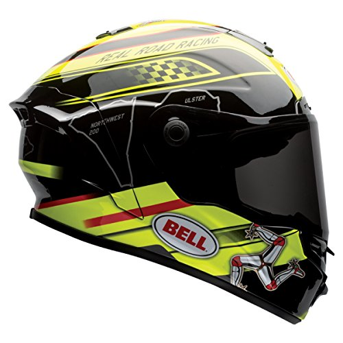 Bell Star Unisex-Adult Full Face Street Helmet (Isle Of Man Black/Yellow, Small) (D.O.T.-Certified) by Bell