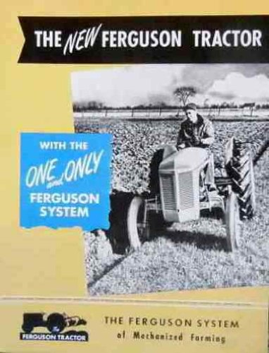 HISTORIC NEW FERGUSON SYSTEM TRACTOR SALES BROCHURE pdf