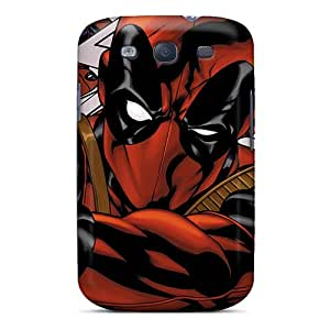 Scratch Resistant Hard Cell-phone Case For Samsung Galaxy S3 (Zsy8040OsbS) Allow Personal Design Vivid Deadpool I4 Skin