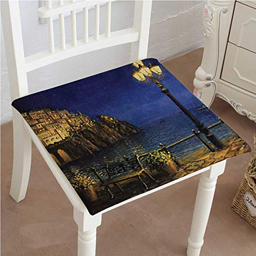 Mikihome Indoor/Outdoor All Weather Chair Pads Romantic Evening at The Coast of Amalfi in Italy Waters City Seat Cushions Garden Patio Home Chair Cushions ()