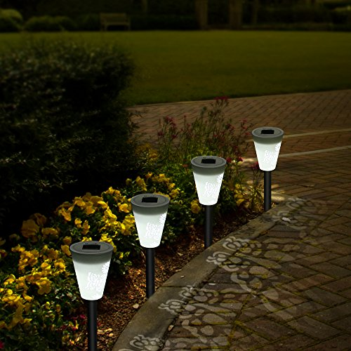 OxyLED Solar Path Light, Hollowed Butterfly Pattern Solar Garden Lights, LED Path Lighting Low Voltage, Waterproof Color Changing Pathway Solar Lights for Outdoor Lawn/Yard/ Walkway (3 Pack) by OxyLED (Image #5)