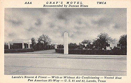 Laredo Texas Graf's Motel Duncan Hines Antique Postcard - Texas In Stores Laredo
