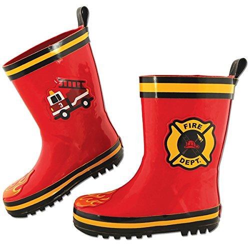 (Stephen Joseph Boys' Rain Boots, Fire Truck, 10)