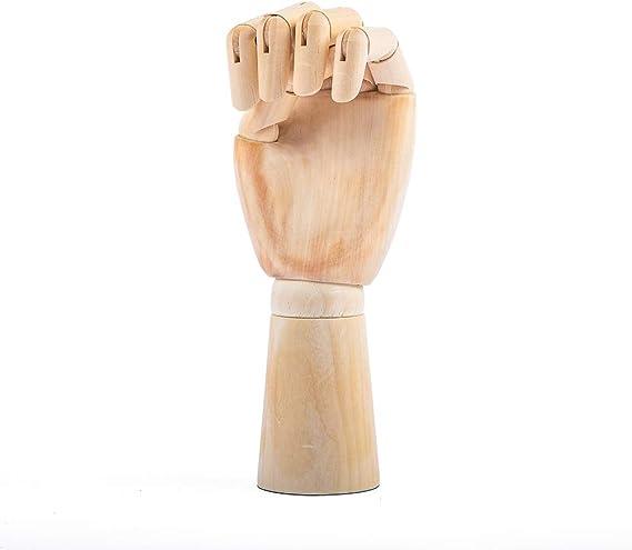 Skizzieren Malen ideal f/ür Kunst Handmodell aus Holz 2 Zeichnen Mannequin Hand flexibel bewegliche Finger