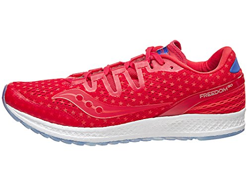 Saucony Freedom ISO Men Shoe Rd/Wh/Bl 9.0 D by Saucony