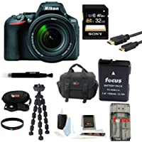 Nikon D5500 DX-format Digital SLR w/ 18-140mm VR Kit (Black) with 64GB Deluxe Accessory Bundle