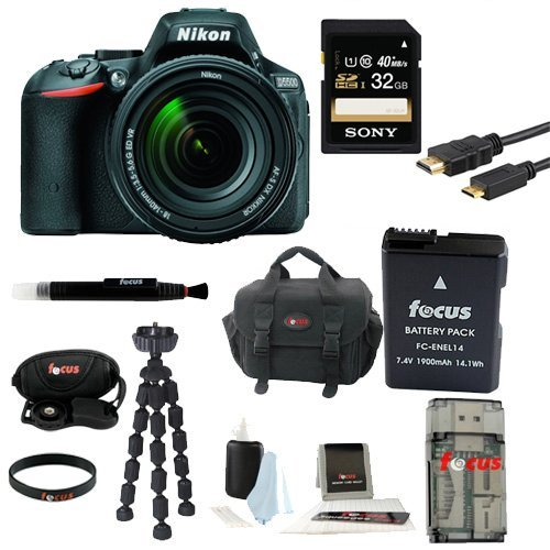Nikon D5500 DX-format Digital SLR w/ 18-140mm VR Kit  with 6