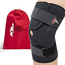 Hinged Unloader Compression Knee Brace Support Sleeve for LCL ACL MCL, Meniscus Tear, Arthritis Pain, Sprain, Ligament & Tendon Injury, Open Patella, Fully Adjustable, Breathable Neoprene, Women Men