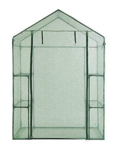 GOJOOASIS Walk in Portable Garden Greenhouse Mini Plants Shed Hot House with 3 Tiers by GOJOOASIS (Image #3)