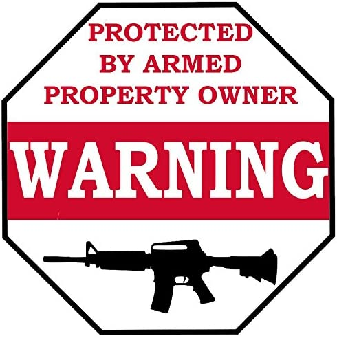 2nd Amendment Vinyl Decal USA United States Owner is Armed Warning Sticker