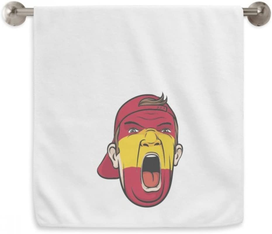 DIYthinker España Bandera Máscara Facial del Maquillaje Screaming Cap Circlet Blanca Toallas Toalla Suave paño de 13X29 Pulgadas 13 x 29 Pulgadas Blanco: Amazon.es: Hogar